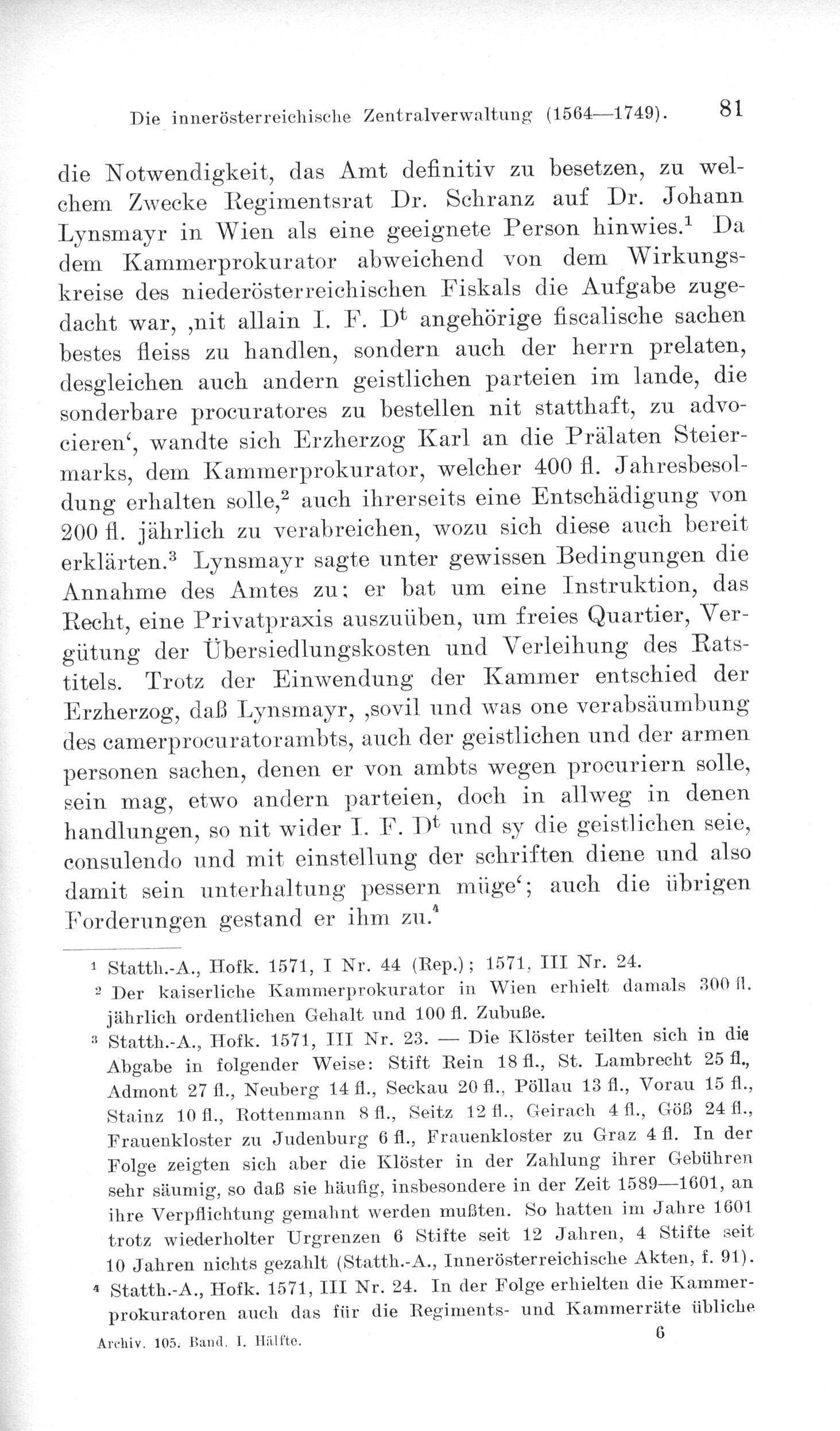 Viktor Thiel, Die innerösterreichische Zentralverwaltung 1564-1749 ...
